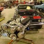 Camaro restoration engine replacement