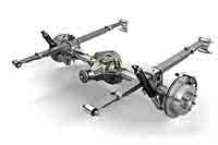 live axle rear suspension